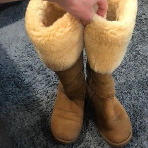 Over the knee Ugg boots.